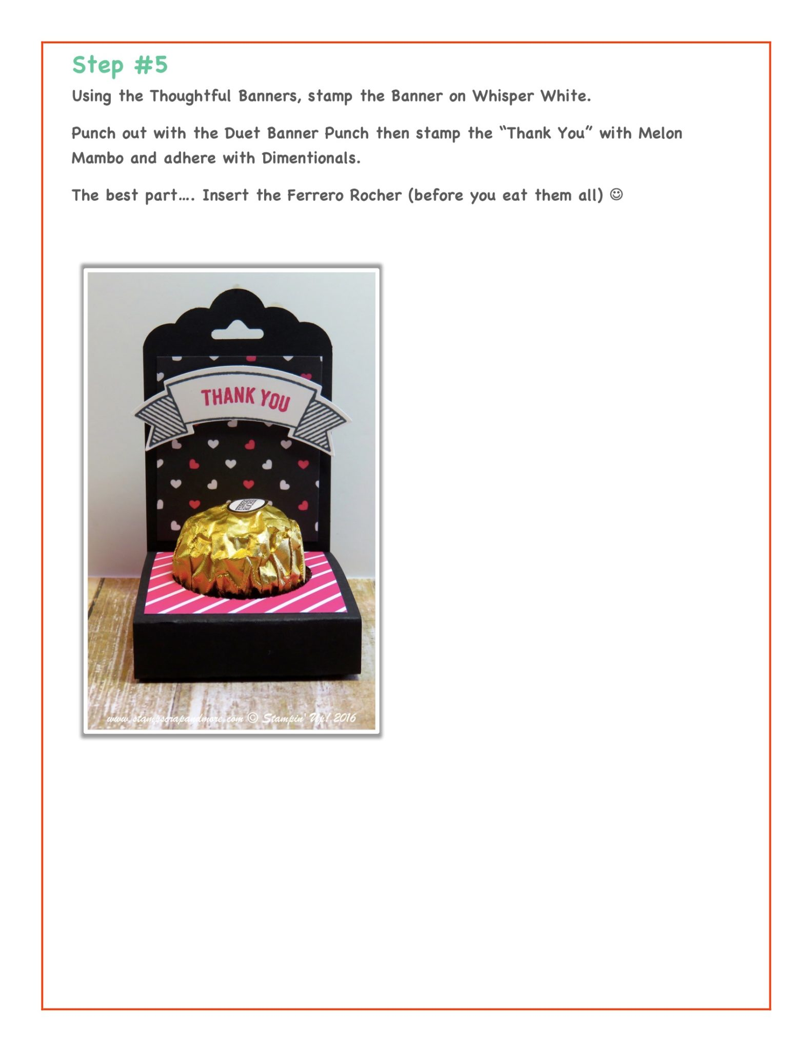 Tutorial - Ferrero Rocher Treat Box 4