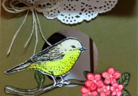 Bird House Card using Best Birds and Birds & Blooms