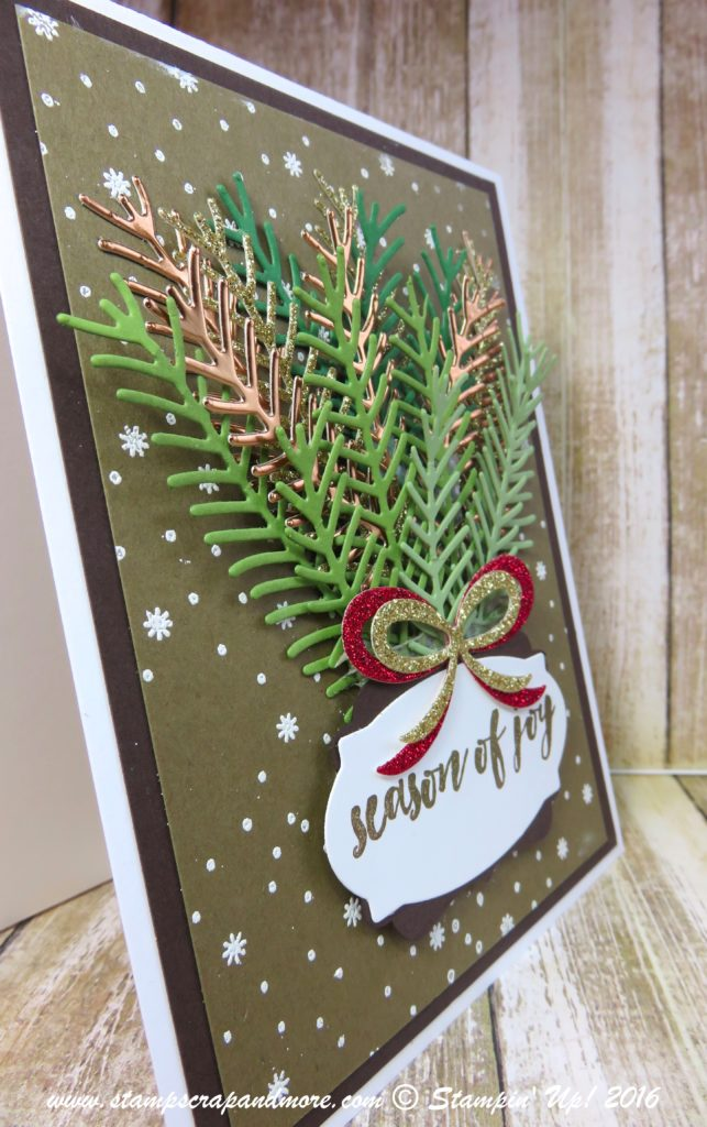 Pretty Pines Thinlits, Stampin' Up!, Christmas Card