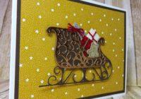 Christmas Card, Santa's Sleigh, Stampin' Up!