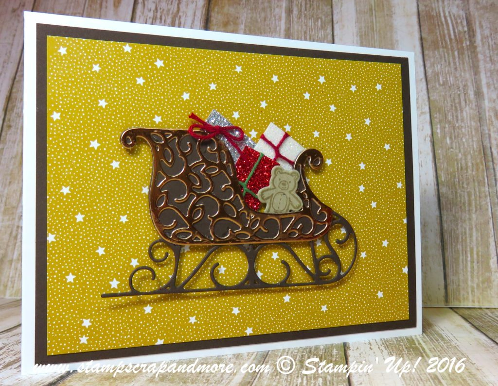 Christmas Card, Santa's Sleigh, Stampin' Up!