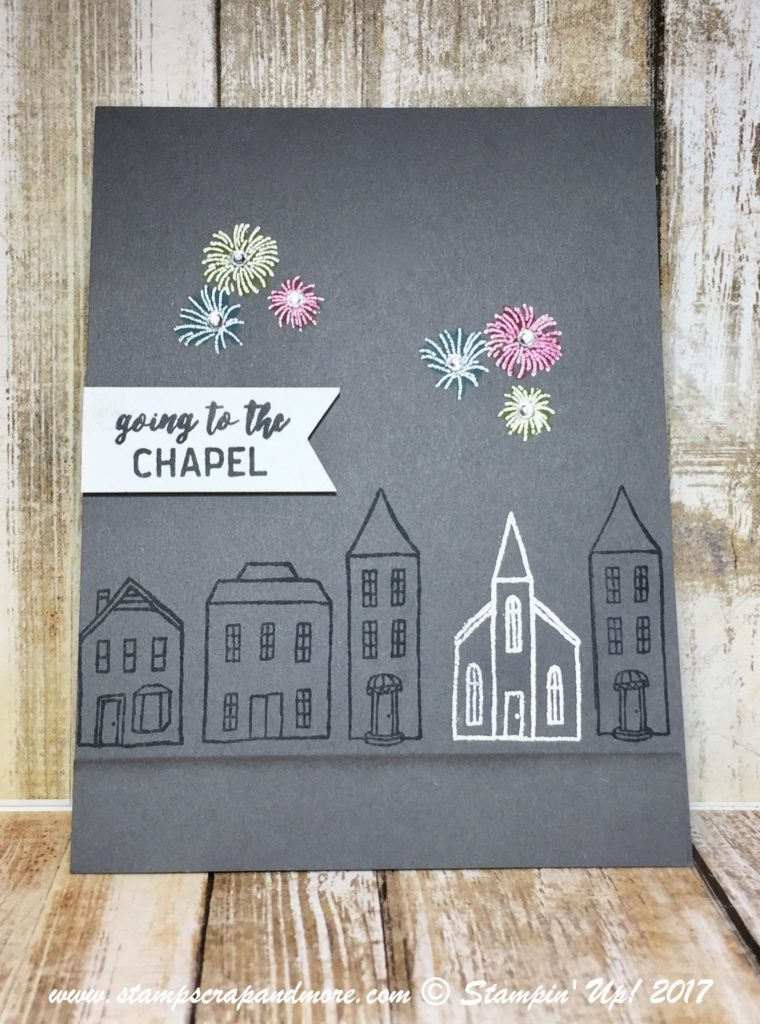 Stampin' Up! In The City Wedding card